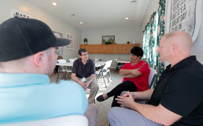 A group therapy session at Cove Forge Behavioral Health